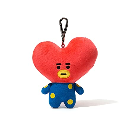 BT21 Official Merchandise by Line Friends - TATA Character Doll Keychain Ring Cute Handbag Accessories