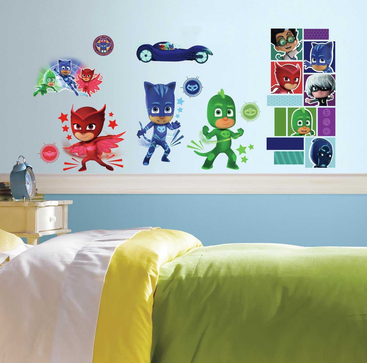 RoomMates PJ Masks Peel And Stick Wall Decals ,9 inches X 17.375 inches - RMK3586SCS by RoomMates
