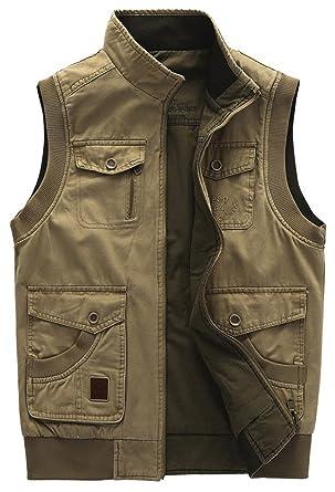 YYZYY Herren Militär Gute Qualität Westen Gilets Vest