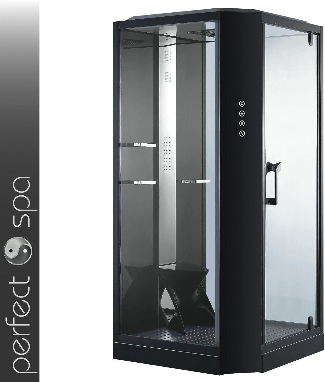 Vapor ducha Siena negro Vapor cabina de ducha, ducha, baño de ...