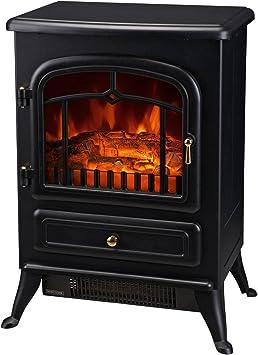 Amazon Com Homcom Freestanding Electric Fireplace Heater With