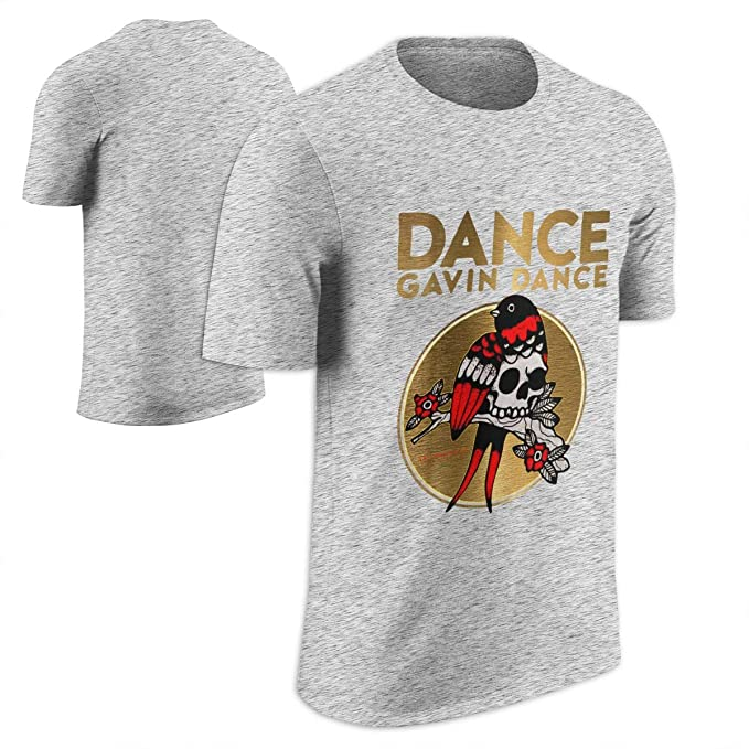 cdb9f117ff1 Amazon.com  Dance Gavin Dance Men s Bird Skull T-Shirt Heather  Clothing