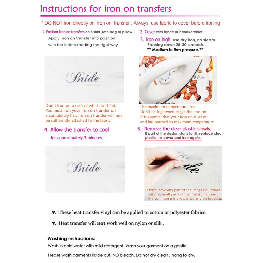 Amazon Set Of 5 1 Bride 4 Bride Squad Iron On Transfer