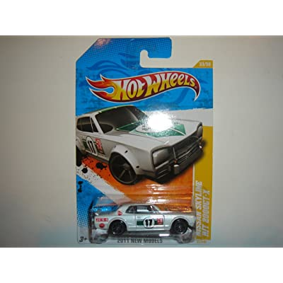 2011 Hot Wheels Nissan Skyline H/T 2000GT-X White #33/244: Toys & Games
