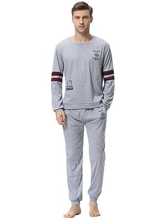Image Unavailable. Image not available for. Color  Aibrou Pajama Set for Men  ... 1c7ea9101