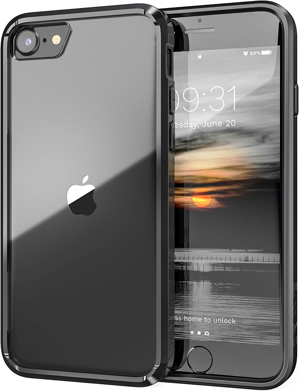 Crave iPhone SE 2020 Case, iPhone 8 Case, iPhone 7 Case, Slim Guard Protection Series Case Apple iPhone SE/8/7 (4.7 Inch) - Black