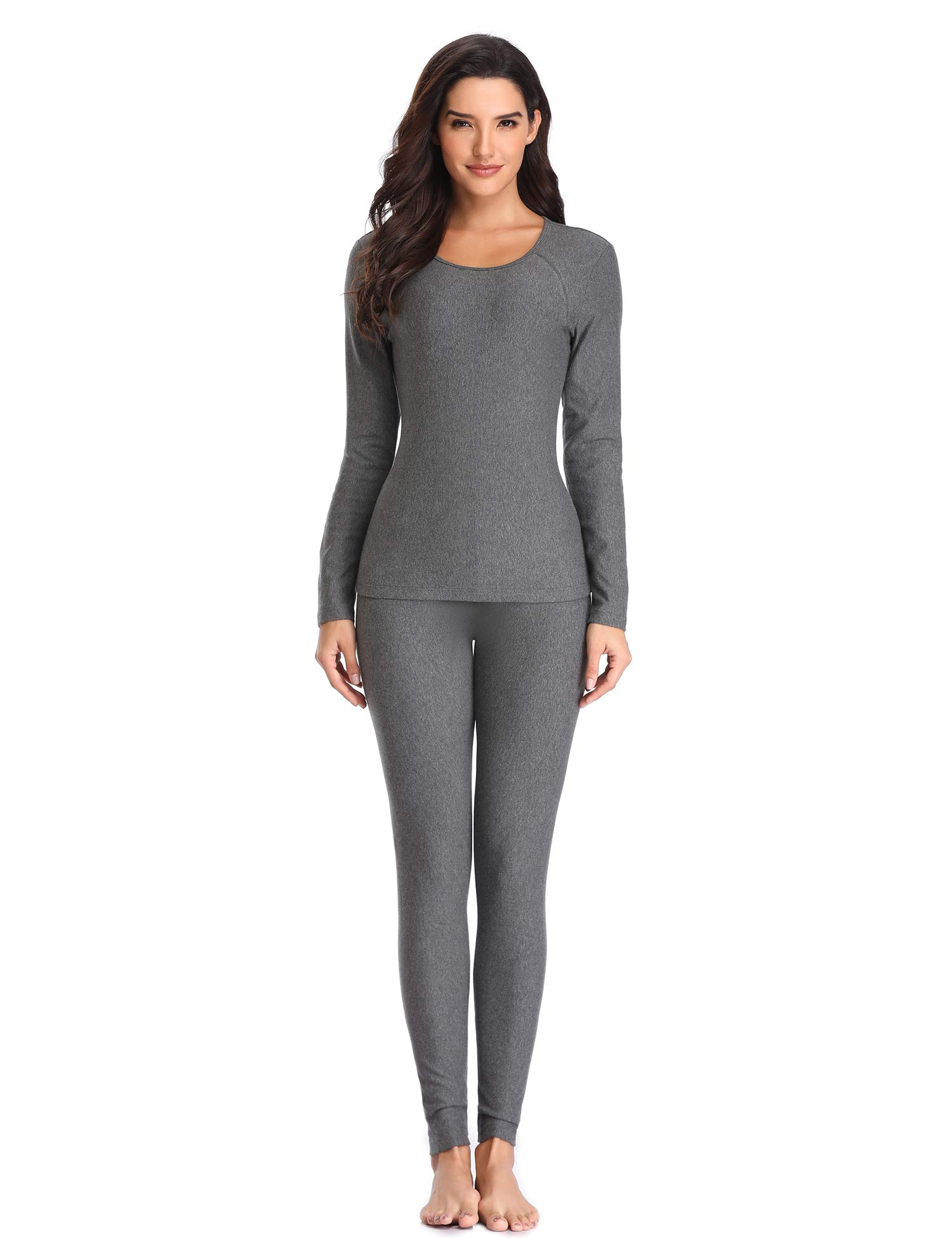 d257324f971 LALAVAVA Lusofie Thermal Underwear for Women Cotton Long Johns Set Ultra- Soft Base Layer product