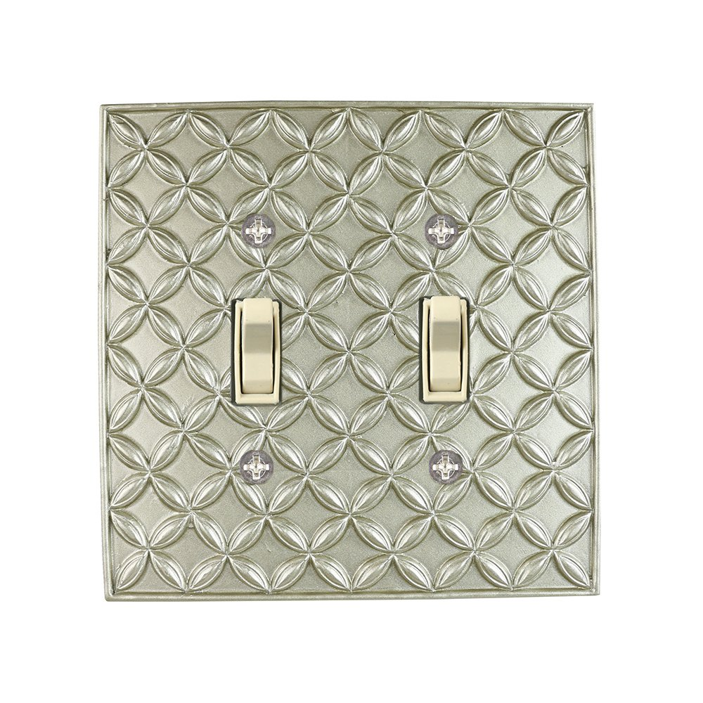 Meriville Colfax 2 Toggle Wallplate, Double Switch Electrical Cover Plate, Pewter