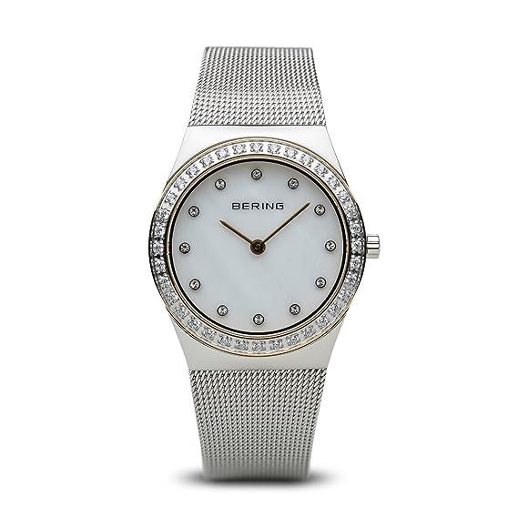Bering 12430-010 - Reloj de Pulsera para Mujer, Color Dorado y Plateado