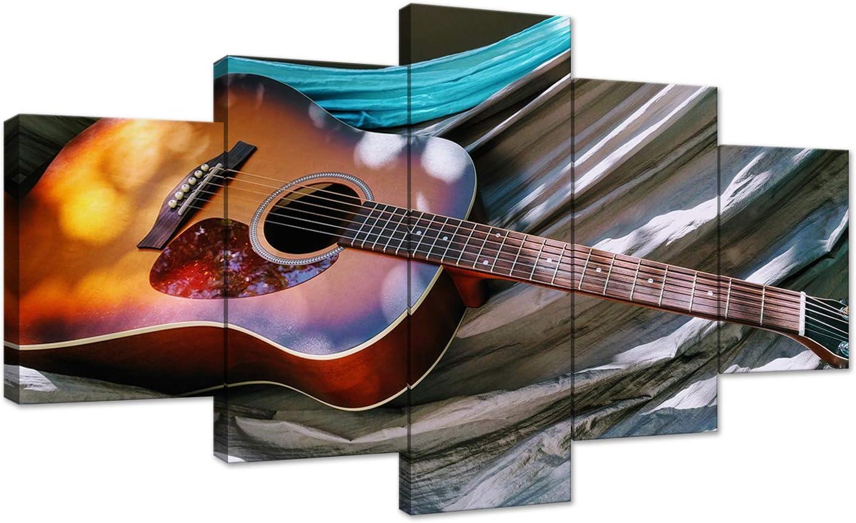 Guitar Modern Music CANVAS ART Framed Picture Print