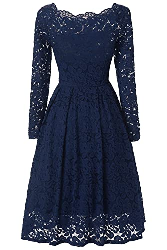 LanierWedding Short Prom Dresses 2017 Cheap Wedding Guest Dresses For Women 50's Vintage Floral Lace...