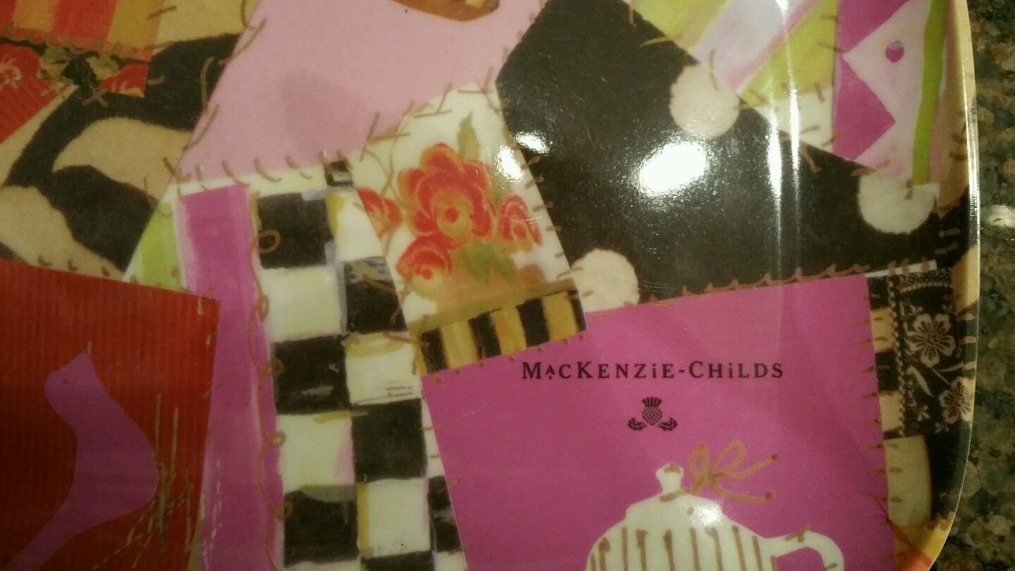 Mackenzie Childs ''Crazy Quilt'' Place mats set of 4RARE
