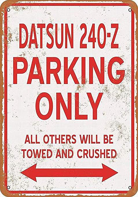 Datsun Parking Only Póster De Pared Metal Retro Placa Cartel ...