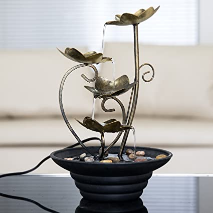 Diensday Indoor Tabletop Fountain Decor Home Light Relaxation Cascading  Rock Pump Waterfall Fountains Zen Small Desk