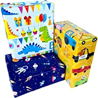 Premify Gift Wrapping Paper Roll, Gift Wrap for Birthday, Party Etc. Kids Gift Wrapping 6 Sheets (Size 20 X 28 Inches)