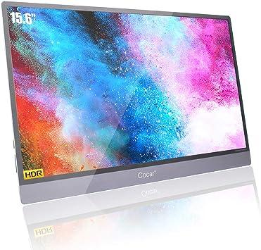 15.6 Portátil Monitor Ultra Delgada IPS HDR Pantalla de Juegos HDMI HD 1920x1080P Full-Featured Espejo USB-C OTG Ratón Teclado para Samsung ChromeBook Surface MacBook Xbox Ps4 Switch Doble Altavoz: Amazon.es: Electrónica