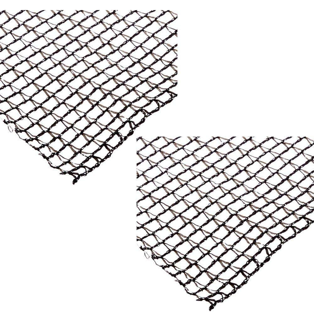 MRT SUPPLY Deluxe 20 x 30 Foot Heavy Duty Fish Pond Netting Cover, Black (2 Pack) with Ebook