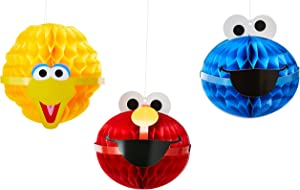 Amscan Sesame Street Honeycomb Decorations Party Supplies, multicolor
