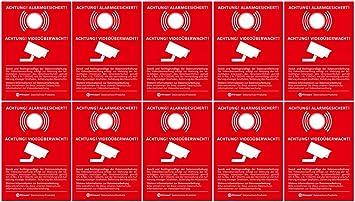 10 x dsgvo bdsg de protección Adhesivo | Nota Advertencia ...