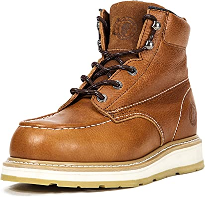 ROCKROOSTER Wedge Work Boots for Men