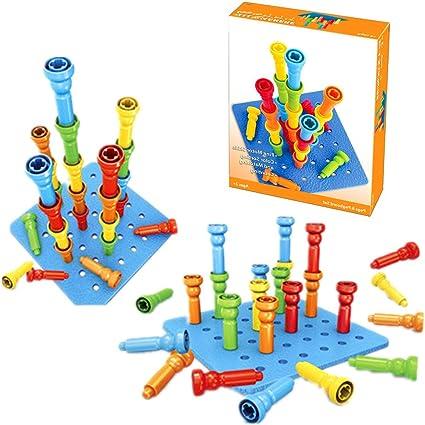 Amazon Com Vipamz Peg Board Set Montessori Occupational Therapy