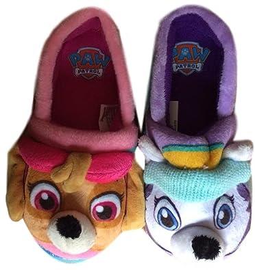 Amazon.com   Nickelodeon Toddler Girls Paw Patrol Puppy Dog Slippers ...