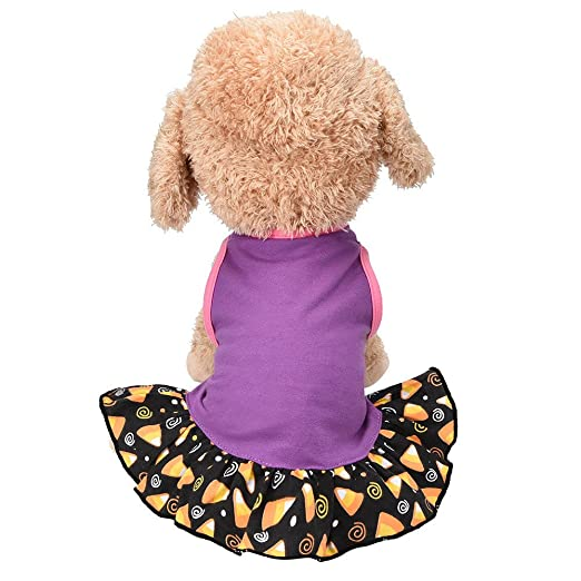 beb10c7d772b Amazon.com: 2019 Dresses for Small Dog Dress Fashion Pet Dog T-Shirt Dress  Dog Cat Cute Summer Vest Skirt: Clothing