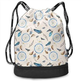 RAINNY Vintage Padrao Large Drawstring Sport Backpack Sack Bag Sackpack