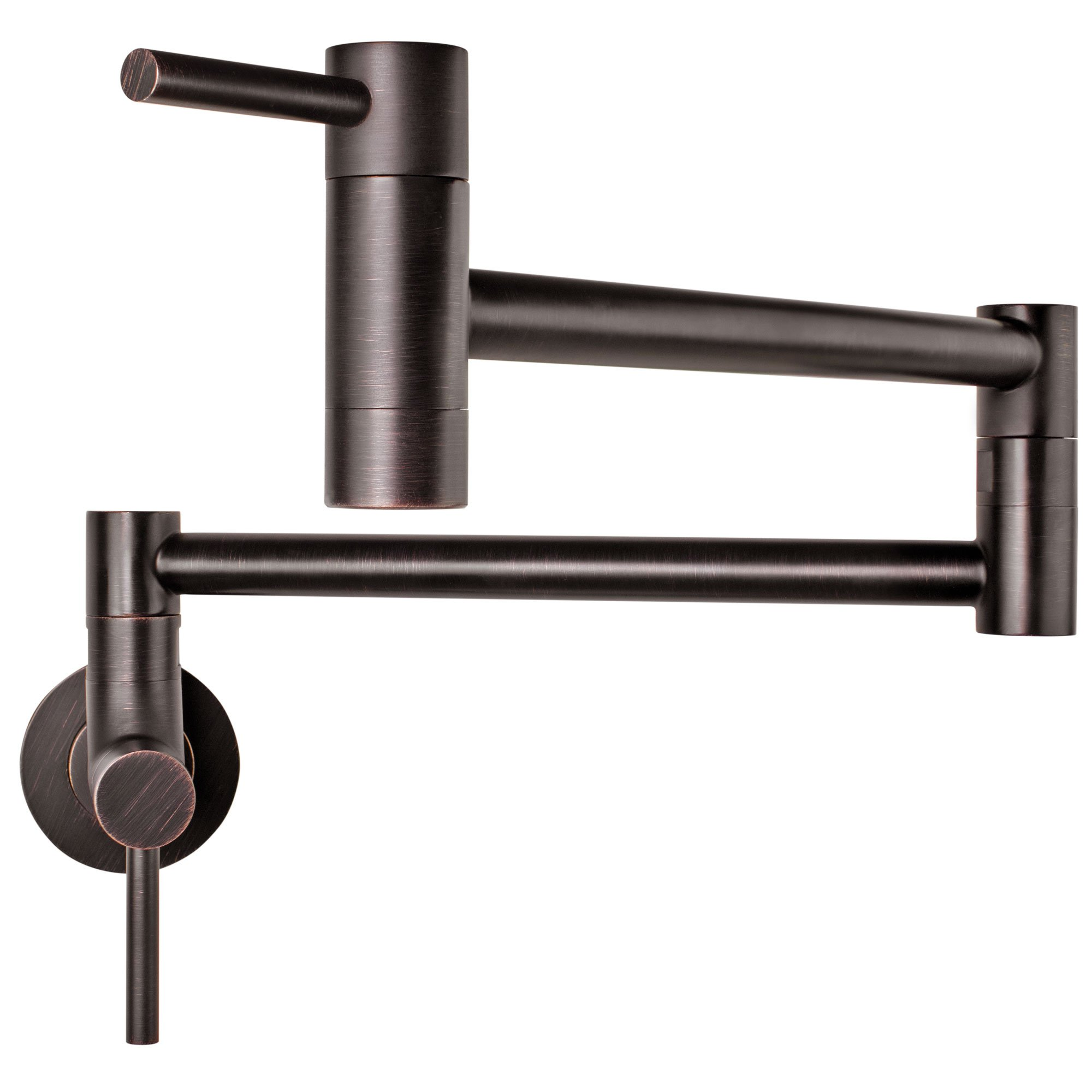 Geyser GF46-O Andorra Series Stainless Steel Wall Mount Two Handle Pot Filler Faucet (Oil Rubbed Bronze Finish)