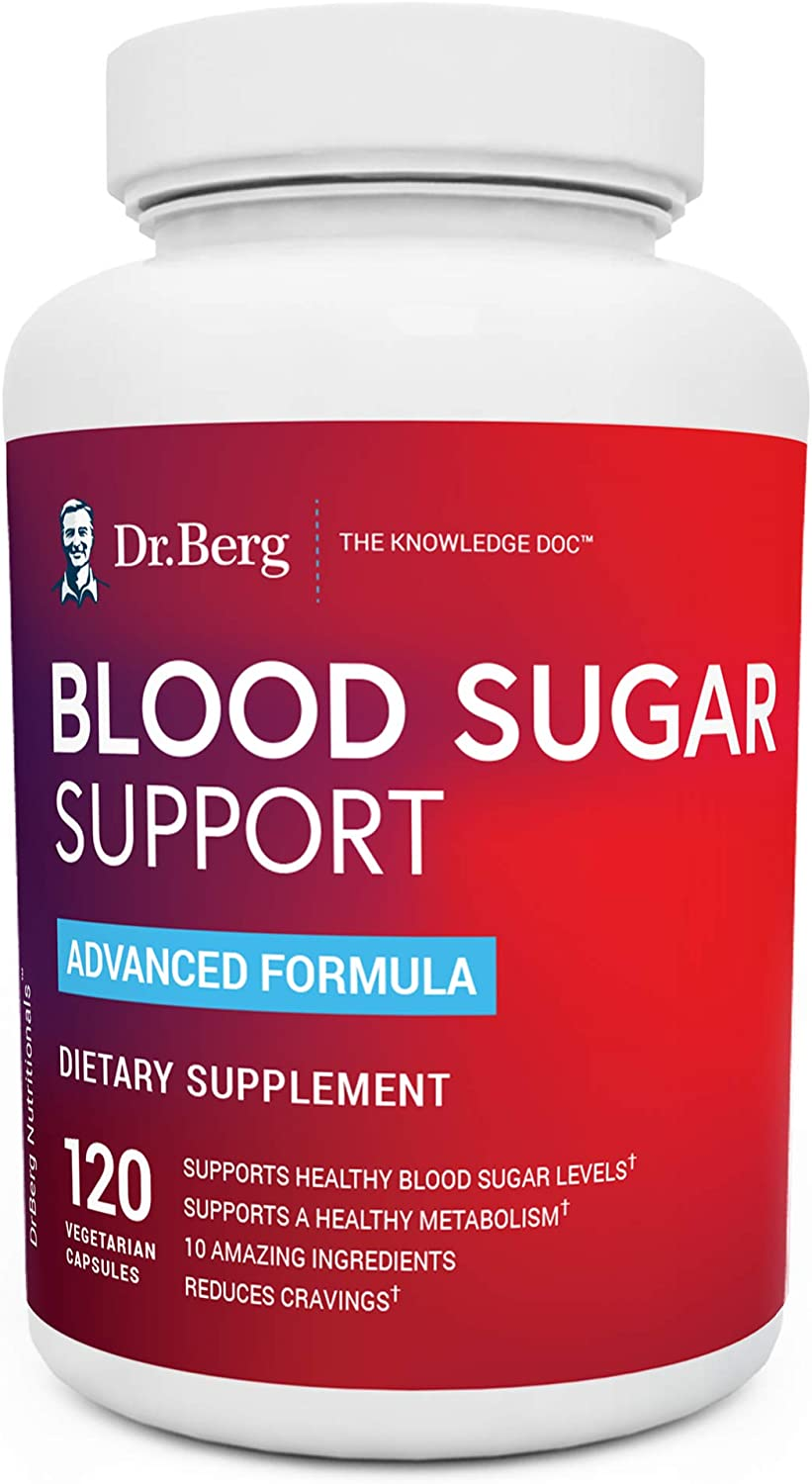 Amazon Com Dr Berg S Healthy Blood Sugar Support Supplement 10 Powerful Ingredients Helps With Cravings 120 Capsules Health Personal Care