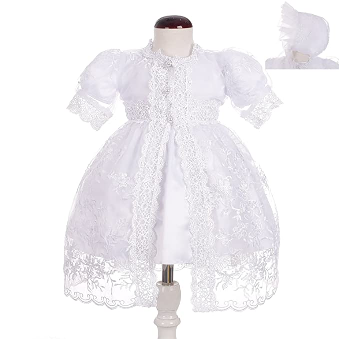 be2805bad190 Dressy Daisy Baby Girls  Baptism Dress Christening Gown with Cape ...
