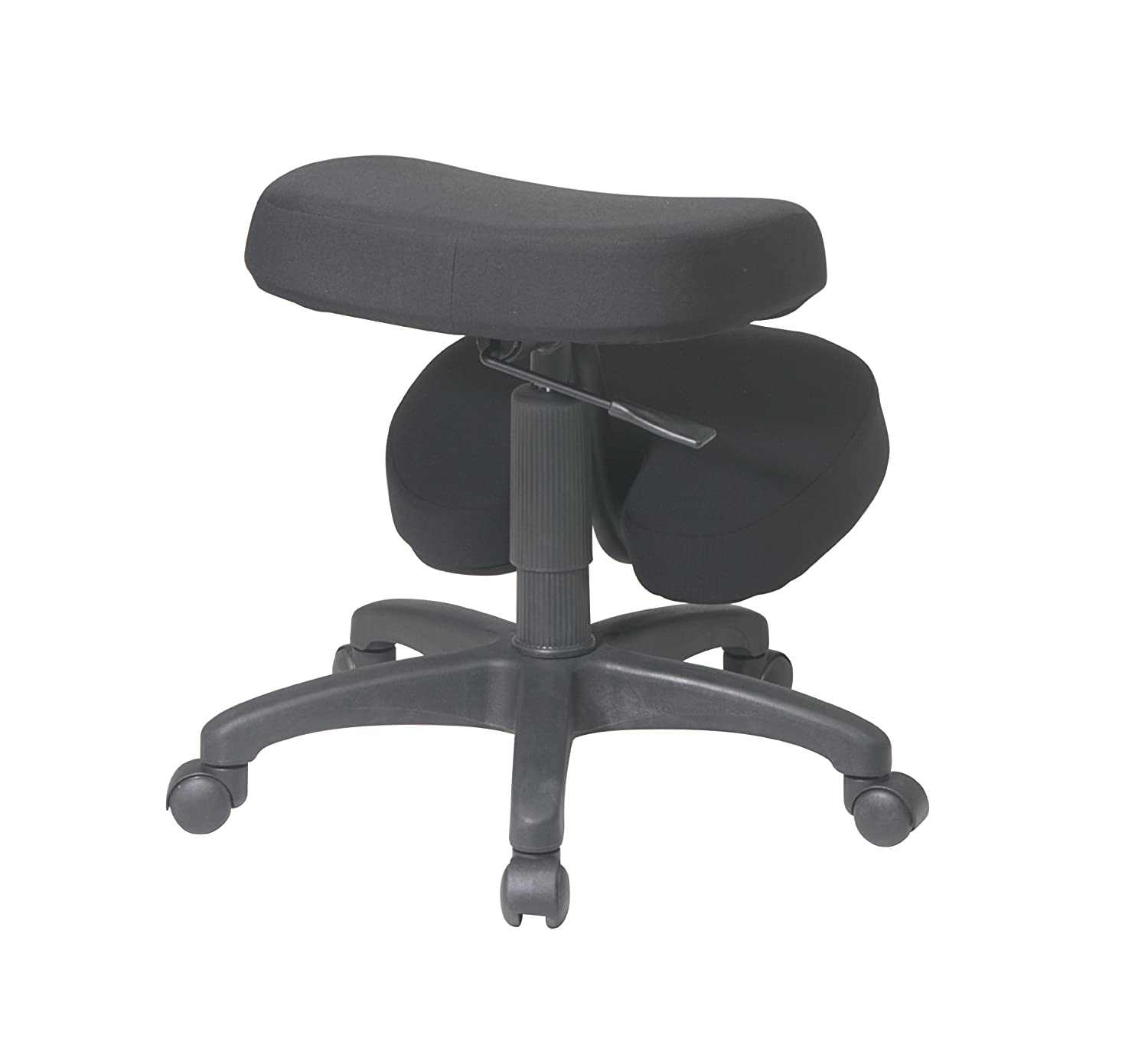 Ergonomic office chair kneeling posture - Amazon Com Office Star Ergonomically Designed Knee Chair With Casters Memory Foam And 5 Star Base Black Kitchen Dining