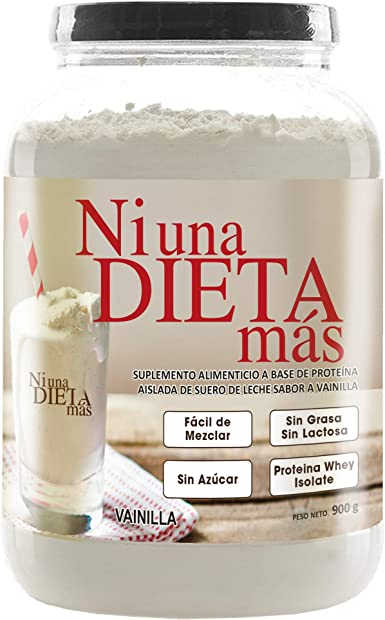 NI UNA DIETA MÁS Proteína (reduce el abdomen) 0 azúcar, 0 Lactosa (deliciosa vainilla)