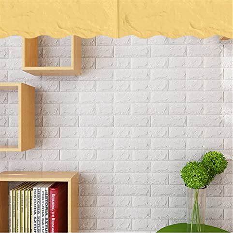 TraveT Protection 3D Brick Wall Stickers TV Sofa Background Wall Decor Soft  Foam Panel Decal Wallpaper
