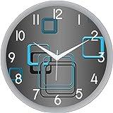 IT2M Designer Round Plastic Wall Clock (28 cm x 28 cm x 5 cm, White, 451W)