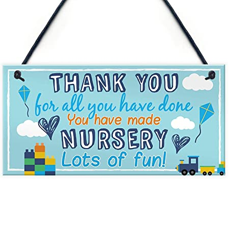 Thank You For Nursery Letrero de Placa de Madera Carteles de ...