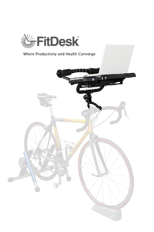 amazoncom fitdesk pro universal mounted bike desk exercise bikes sports u0026 outdoors