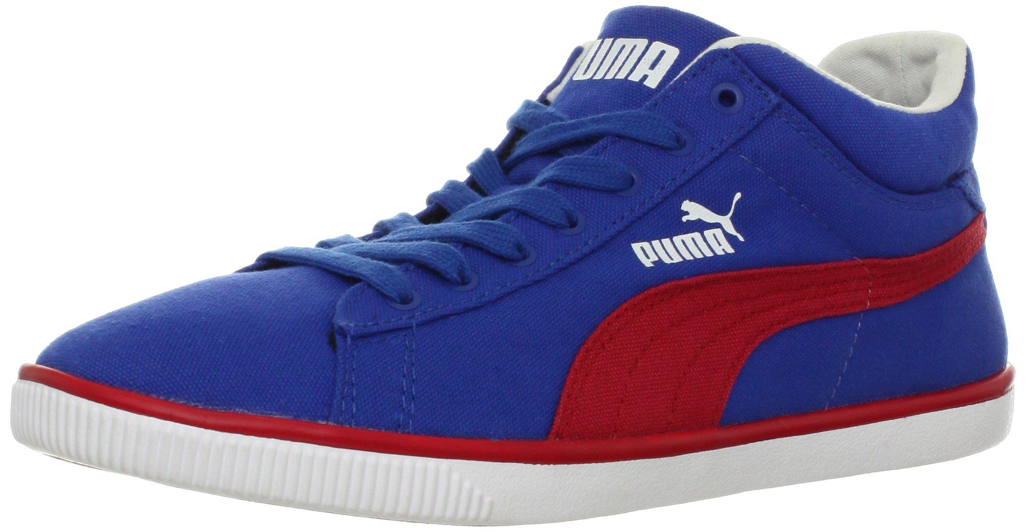 PUMA Glyde Lite Mid Fashion Sneaker,Snorkel Blue/Ribbon Red/White,13 US/14.5 D US