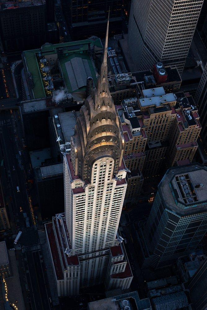 ''Into The Light'' Fine Art Print, Chrysler Building, New York City, Aerial View, Art Deco, Midtown, Manhattan - Travel Photography, Print, Wall Art