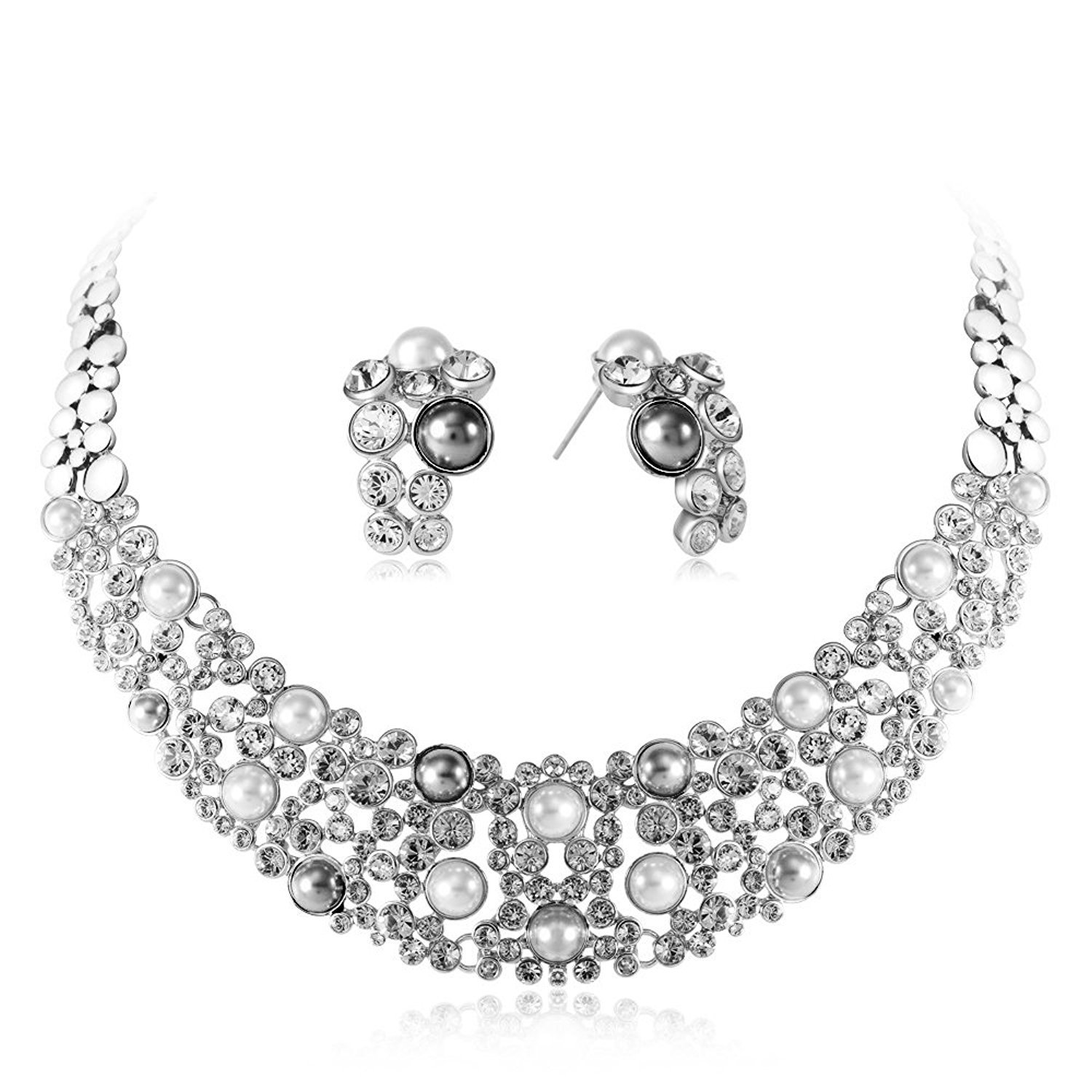 IUHA Cubic Zirconia Necklance and Earrings Luxury Jewelry Sets Wedding Prevent allergies Women Gifts by IUHA