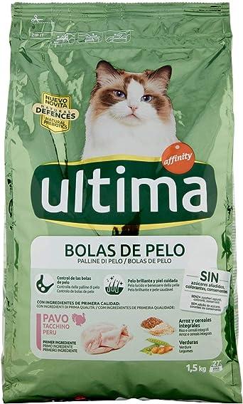 Ultima Pienso Para Gatos Para Prevenir Bolas De Pelo Sabor Pavo 1 5 Kg Amazon Es Alimentación Y Bebidas