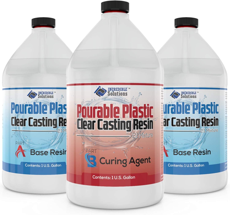 DEEP Pourable Plastic Casting Resin-3 Gallon