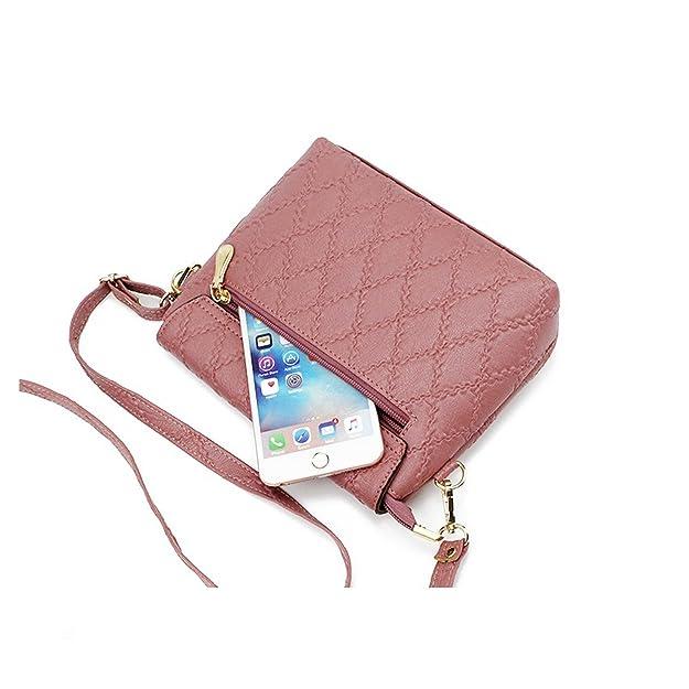 Small Handbags Women Leather Shoulder Mini Bag Crossbody Bag Sac A Main  Femme Ladies Messenger Bag Long Strap Female Clutch Black 16Cm X 21Cm X  6Cm  ... 243b3dbabf08f
