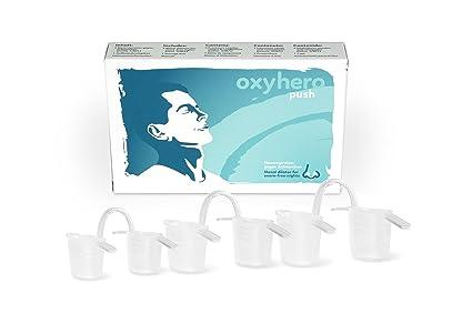 oxyhero push – Dilatador nasal - Kit de iniciación contra los ronquidos en 3 tamaños (