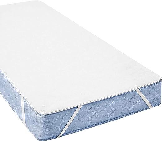 BONVELLI - Protector de colchón impermeable de algodón 200 x 200 ...