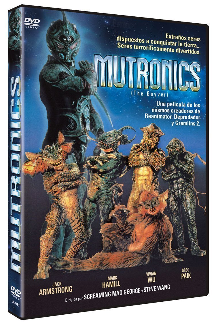 Mutronics (The Guyver) [DVD]: Amazon.es: Greg Joung Paik, Jimmie Walker, Peter Spellos, Michael Berryman, Spice Williams-Crosby, Mark Hamill, Screaming Mad ...