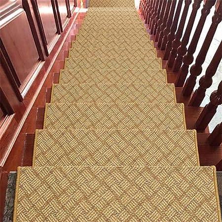 LINrug Alfombras moquetas de Escalera Interior Outdor Escalera Rectangular Escalera antirresbaladiza Alfombra de la Escalera Alfombras de la Escalera para el hogar Alfombra autoadhesiva sin Adhesivo: Amazon.es: Hogar