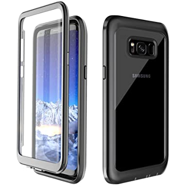 finest selection 78568 91305 Samsung Galaxy S8 Case,Samsung S8 Phone Case 360° Protection Full-body  Rugged Clear Bumper Case Built-in Screen Protector Wireless Charging  Support ...