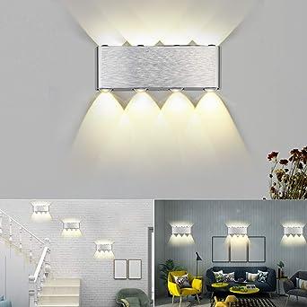 Buluri 8W Moderno LED Aplique de Pared Proyector de Aluminio Luces ...