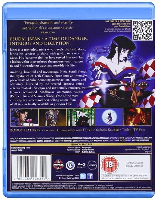 Ninja Scroll Blu-ray [Reino Unido] [Blu-ray]: Amazon.es ...
